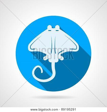 Stingray flat round vector icon