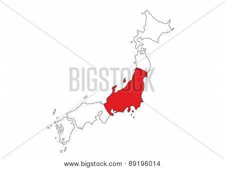 Japan Flag Map