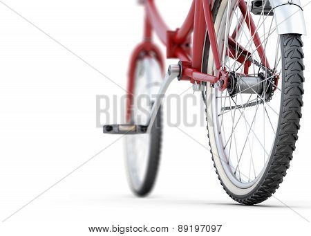 Bicycle Close-up Back Angle View