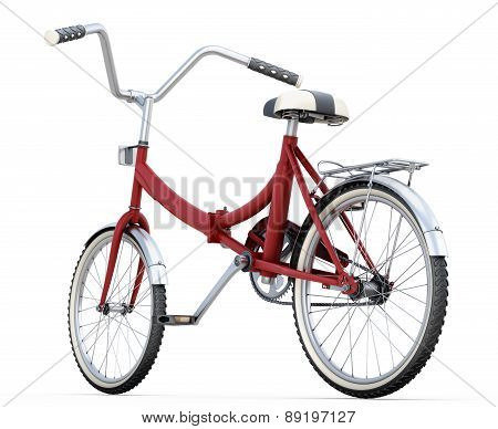 3D Bicycle Close Up On A White