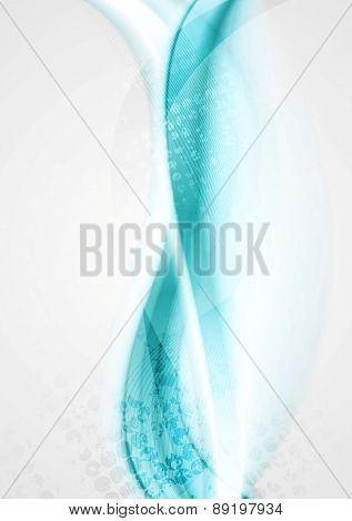 Smooth turquoise bright waves background. Vector design
