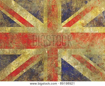 Badly Faded And Worn Grunge Uk Union Jack Flag