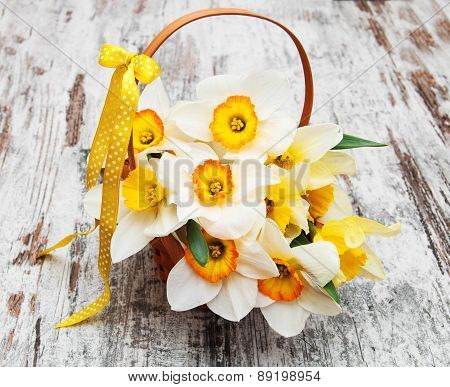 Basket With Daffodils
