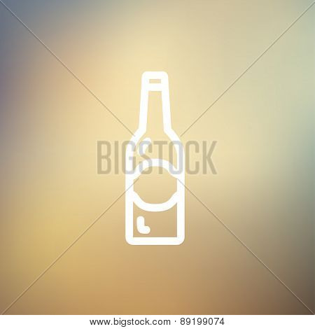 Light beer bottle thin line icon