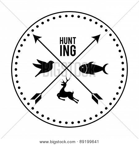 hunting design over white background vector illustration