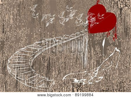 Heart And Stairs
