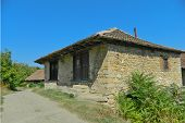 stock photo of serbia  - Old stone house in a rural area of eastern Serbia - JPG