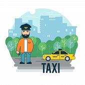 picture of driver  - The taxi driver - JPG