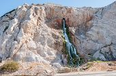 picture of gibraltar  - Manmade Waterfall from the outlet of the desalination plant that supplies Gibraltar with fresh water - JPG