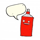pic of spray can  - cartoon spray can with speech bubble - JPG
