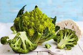 stock photo of romanesco  - Various types of cabbage - JPG