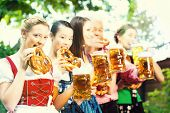 stock photo of bavaria  - In Beer garden  - JPG