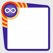 picture of infinity symbol  - Dark purple box for your text and infinity symbol - JPG