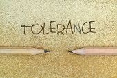 image of racial discrimination  - Pencils in simple conceptual expression as an appeal for tolerance - JPG