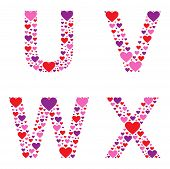 stock photo of v-day  - Letters U - JPG