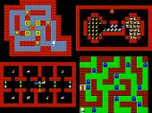 pic of pixel  - Set of retro style game pixelated graphics - JPG