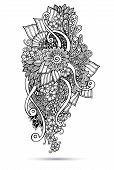picture of sharpie  - Henna Paisley Mehndi Doodles Abstract Floral Vector Illustration Design Element - JPG