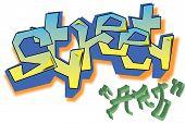 stock photo of street-art  - Vector Graffiti street art  the art of city - JPG