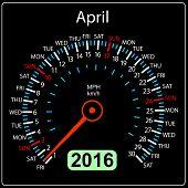 picture of speedometer  - 2016 year calendar speedometer car - JPG