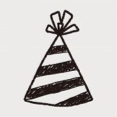 image of party hats  - Doodle Party Hats - JPG