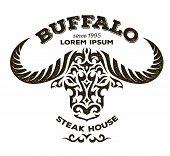 image of tribal  - Buffalo illustration - JPG