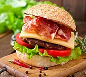 picture of tomato sandwich  - Big sandwich  - JPG