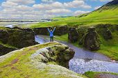 foto of enthusiastic  - Fantastic country Iceland - JPG