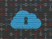 stock photo of keyholes  - Cloud technology concept - JPG