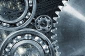 image of titanium  - computer calibrated gears and cogs - JPG