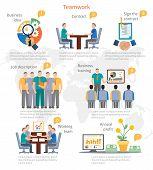 stock photo of descriptive  - Business start idea infographics template - JPG