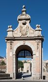 pic of old bridge  - Entrance to the Alcantara bridge - JPG