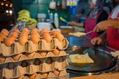 foto of tropical food  - Egg for making an indian traditional food made of flour, crispy flat bread