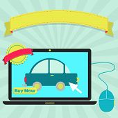 picture of insert  - Buy car online through laptop - JPG