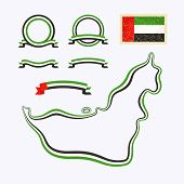 stock photo of nationalism  - Outline map of United Arab Emirates - JPG