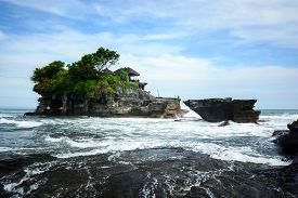 foto of tanah  - Pura Tanah Lot one of famous attraction in Bali Indonesia - JPG