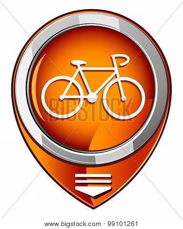 Bicycle Orange Pointer