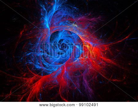 Space Series . Composition Fractal Vortex With A Metaphorical Connection With The Universe , Space,