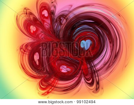 Abstract Image Hearts. Abstract , Love, Passion .
