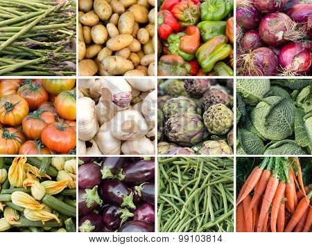 Collage Of Fresh Vegetables