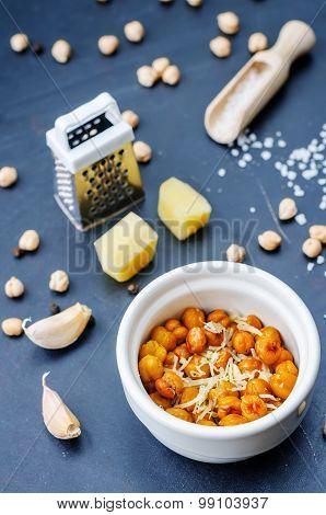 Roasted Garlic Parmesan Chickpeas