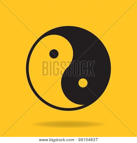 Icon of Yin Yang symbol
