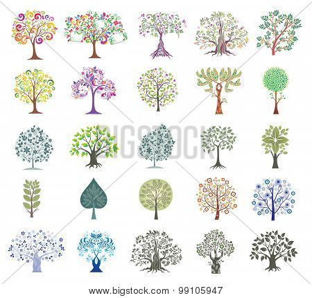 Set of Abstract Colorful Trees.