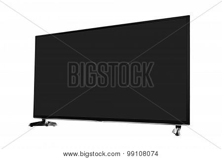 TV set isolated on white background.