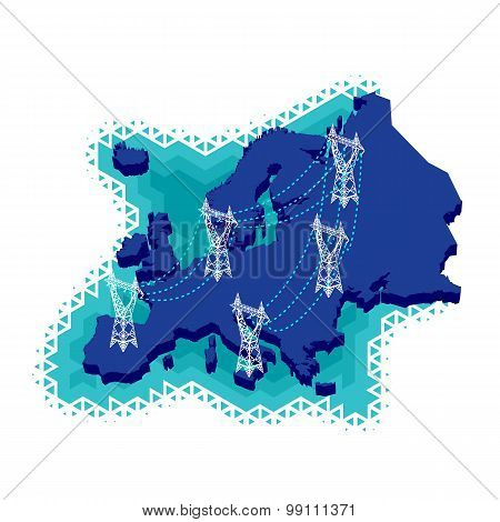 Electric Power Network in Europe