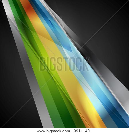 Bright geometric stripes hi-tech background. Vector corporate design