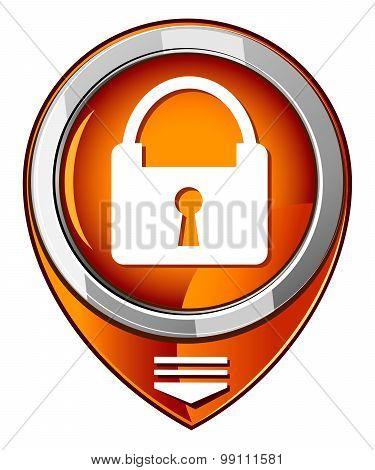 Padlock Orange Pointer