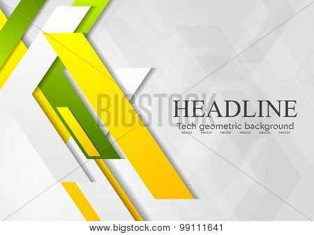 Geometric bright abstract modern design. Vector background