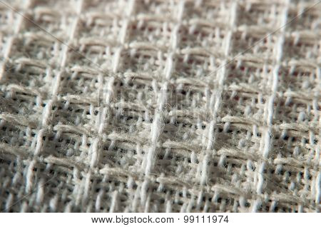 White fabric texture. Macro photography of cotton cloth