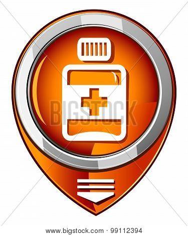 Pills, Medication Orange Pointer