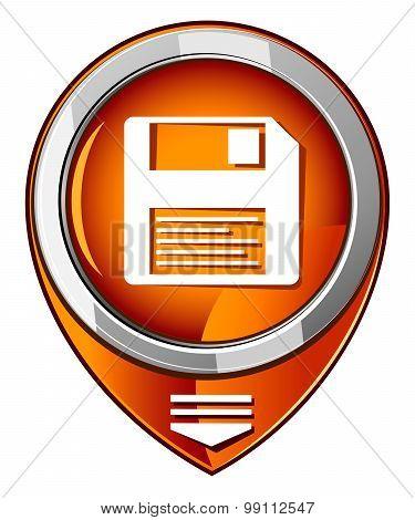 Disk Orange Pointer
